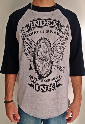 camiseta masculina importada dos eua manga 3/4 original b