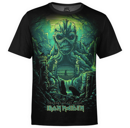 camiseta masculina iron maiden estampa digital md04