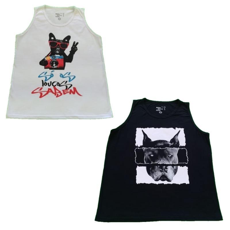 fa2643656e Camiseta Masculina Kit Amizade 2 Regatas Bendito Ser - R  120