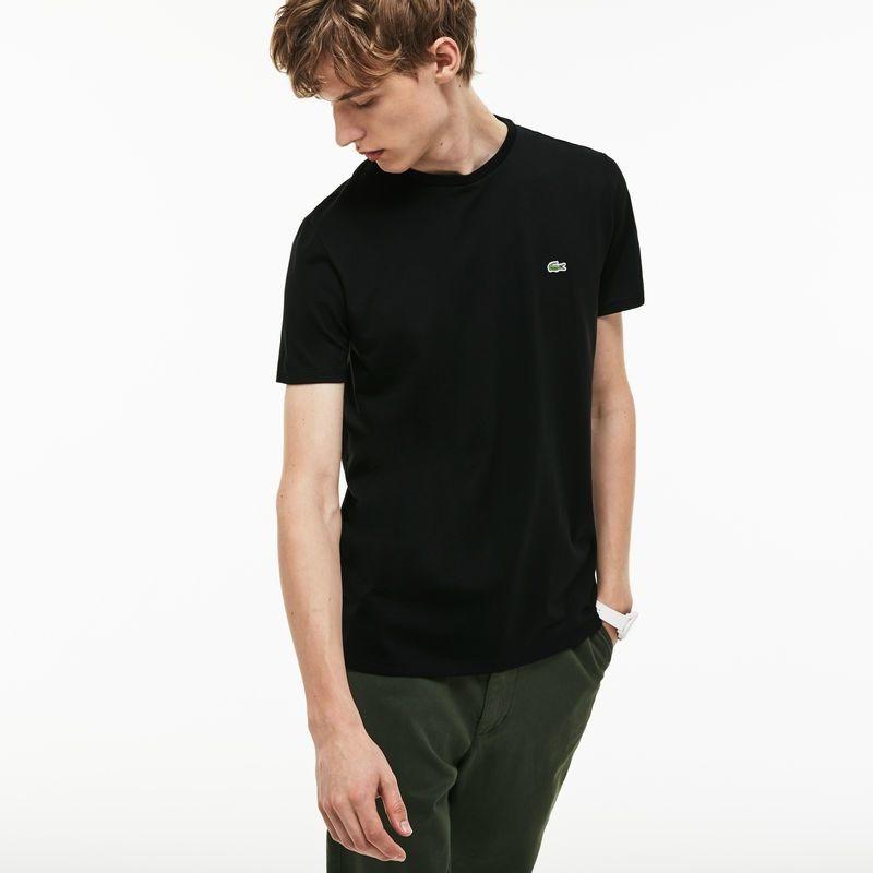 208a60f5471e0 camiseta masculina lacoste em algodão pima com gola redonda. Carregando  zoom.