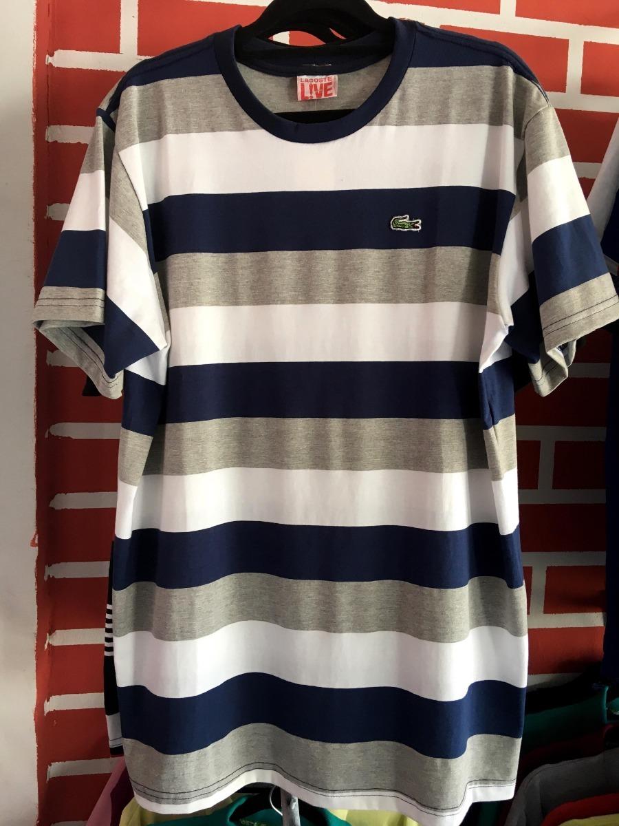 c210da388fb camiseta masculina lacoste listrada. Carregando zoom.
