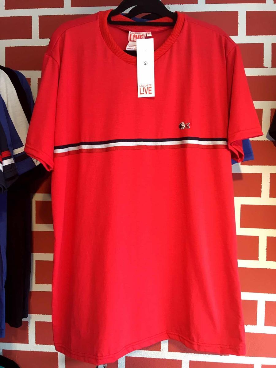 Camiseta Masculina Lacoste Listrada Frontal - R  90,00 em Mercado Livre 876720a269