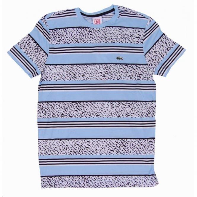 92cfeda9b737c Camiseta Masculina Lacoste Live Lagoon - Tam M - Usada 2 X - R  60 ...