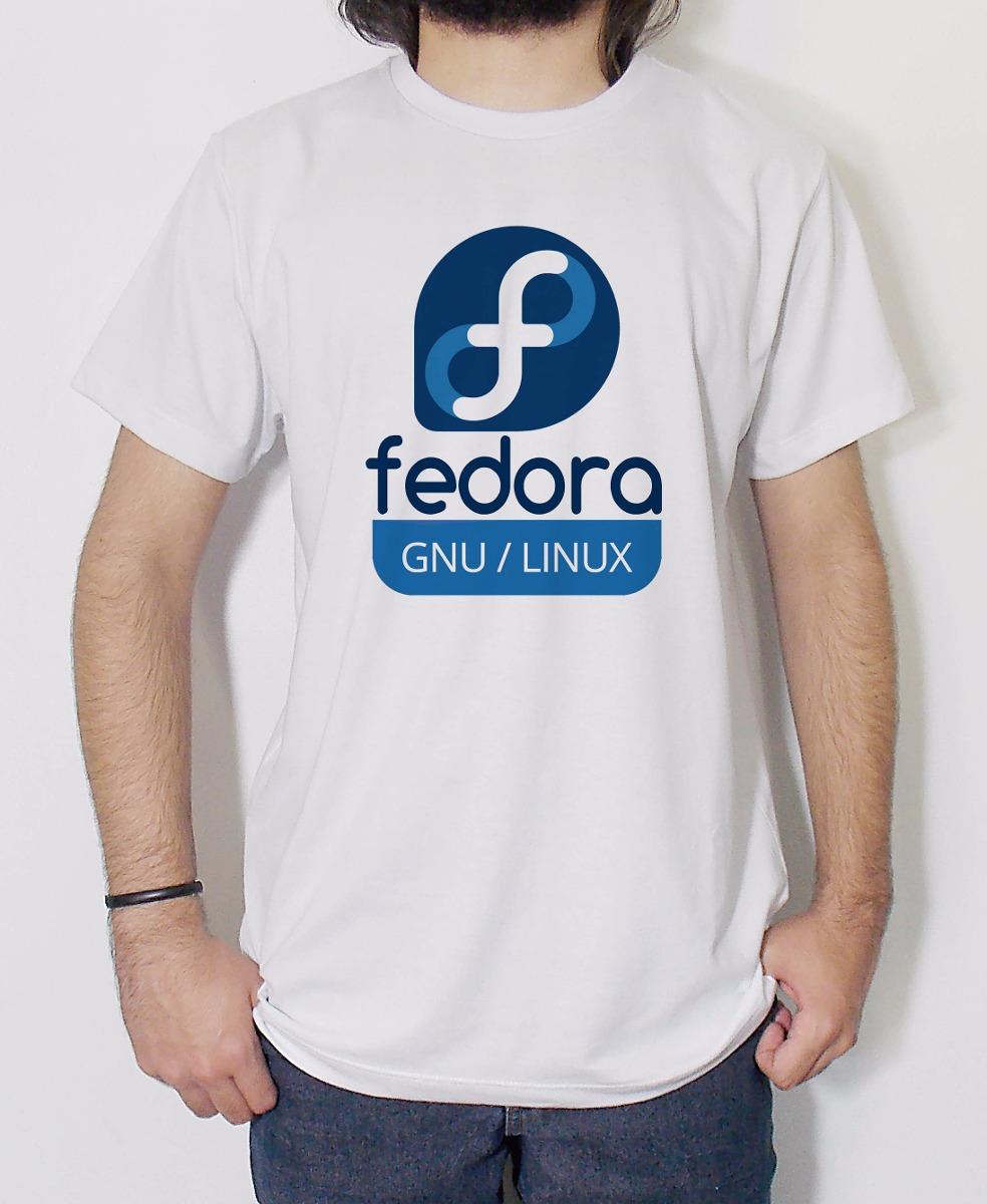 camiseta masculina linux fedora ubuntu fedora debian slack. Carregando zoom. eb913e1ee80