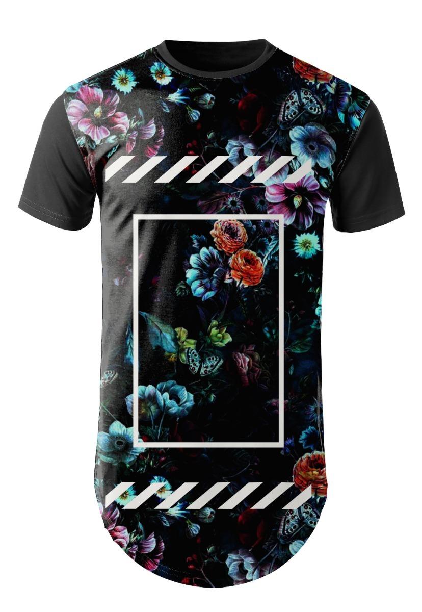 6c8b1136f camiseta masculina long line floral estampada swag estilosa. Carregando zoom .