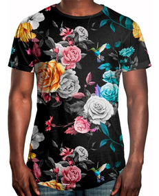 d57be5dd79 Desenho Beija Flor E Flores - Camisetas Masculinas Curta com o Melhores  Preços no Mercado Livre Brasil