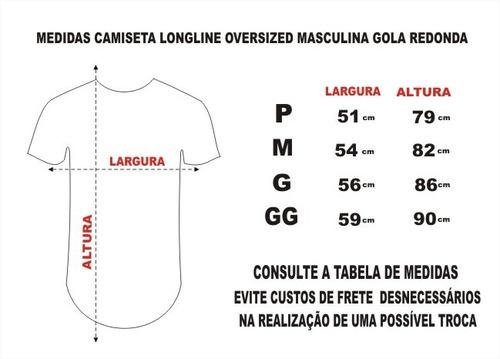 camiseta masculina longline swag oversized celebridades