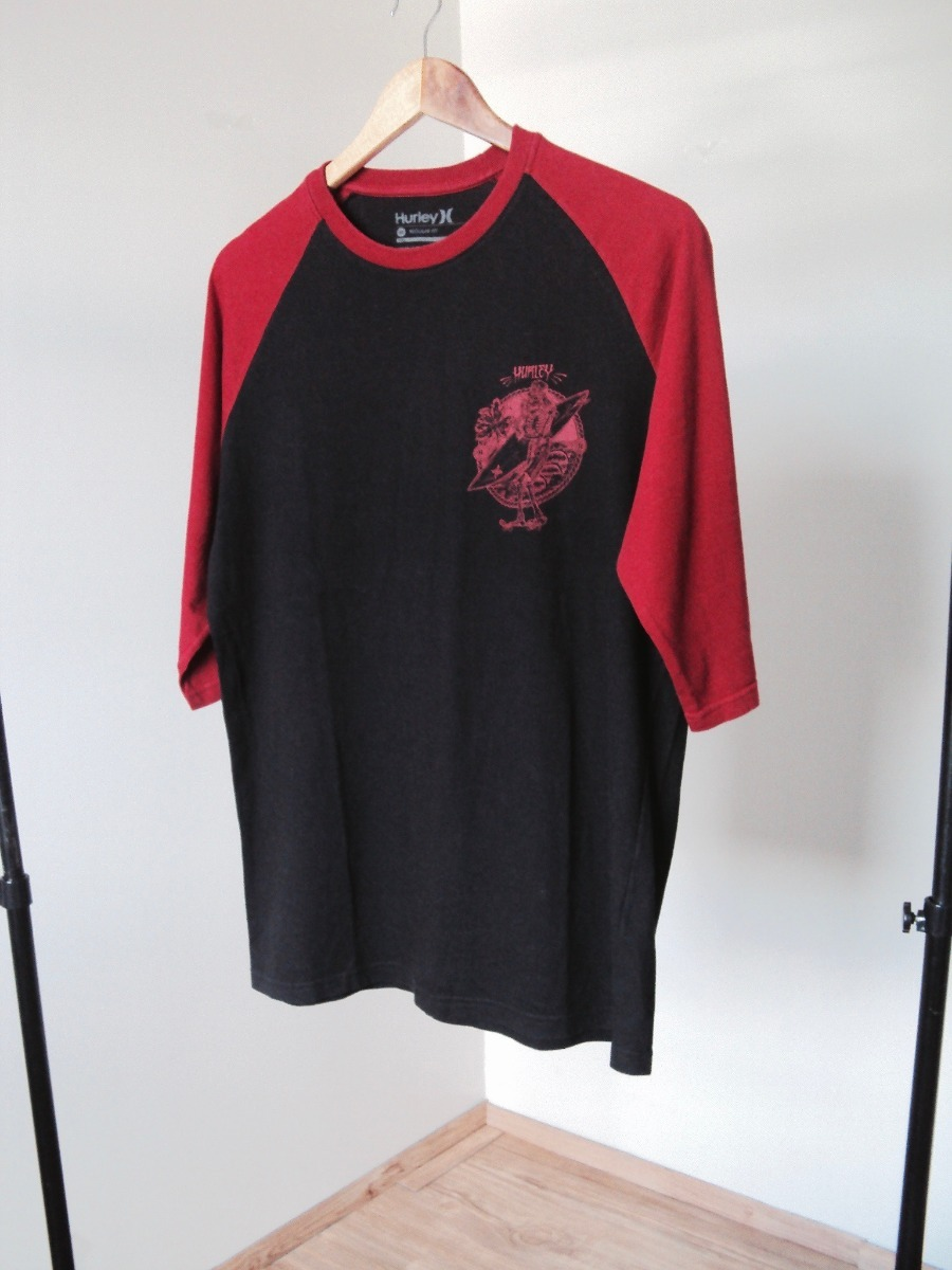 8ab3c2703f951 camiseta masculina manga 3 4 preta blusa homem hurley surf. Carregando zoom.