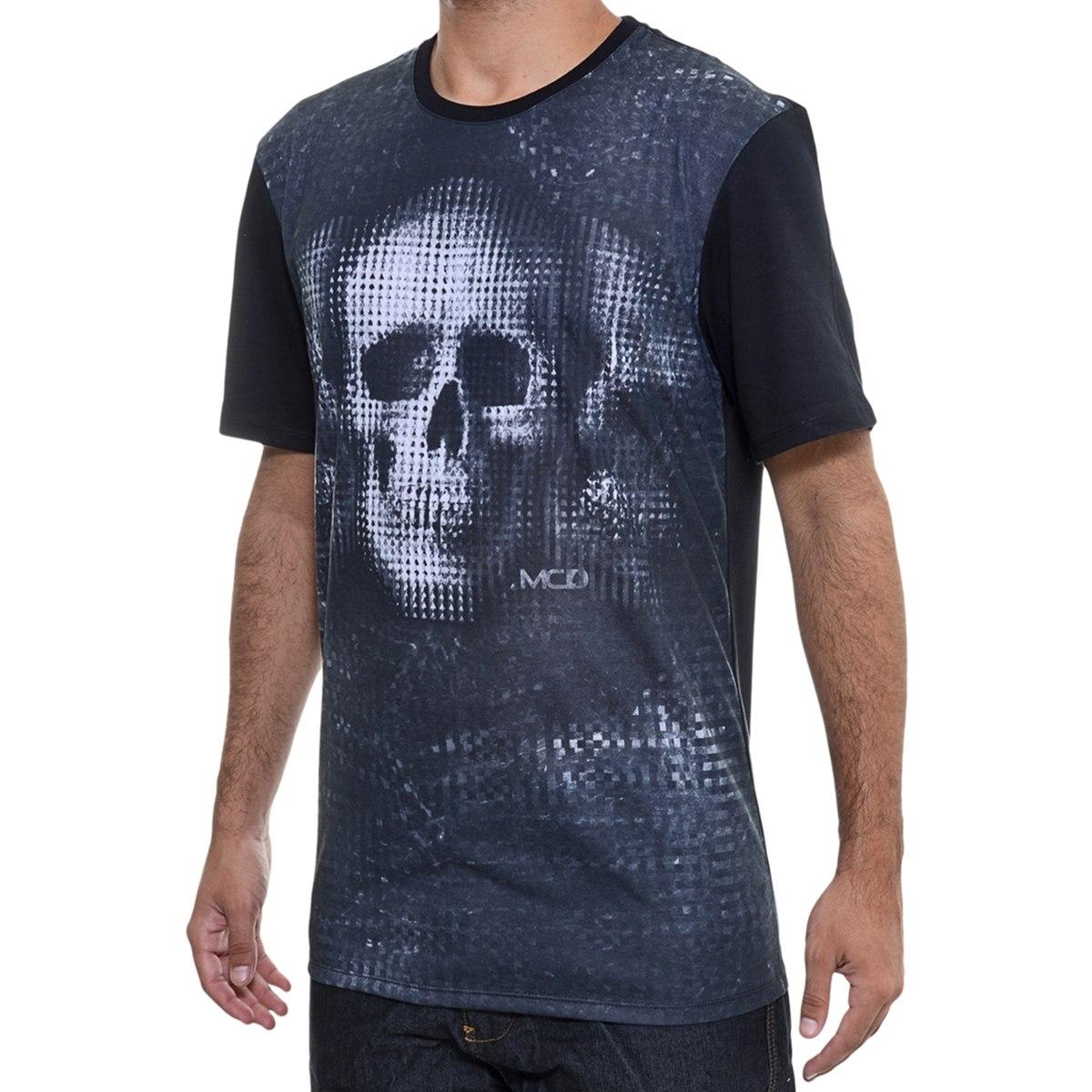 b1301448fabb8 camiseta masculina mcd especial caveira pixel preta. Carregando zoom.