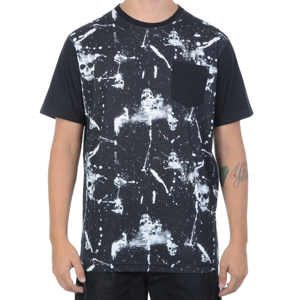 camiseta masculina mcd especial grunge skull preta. Carregando zoom. 357f49d67c1