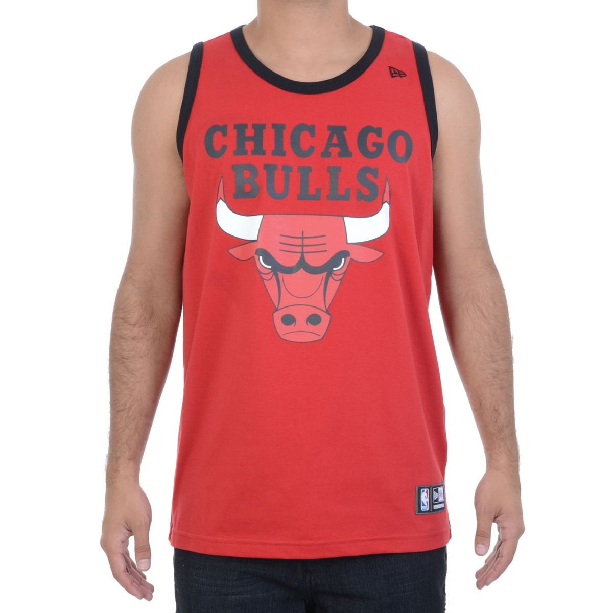 be3a1594f camiseta masculina new era regata nba chicago bulls vermelha. Carregando  zoom.