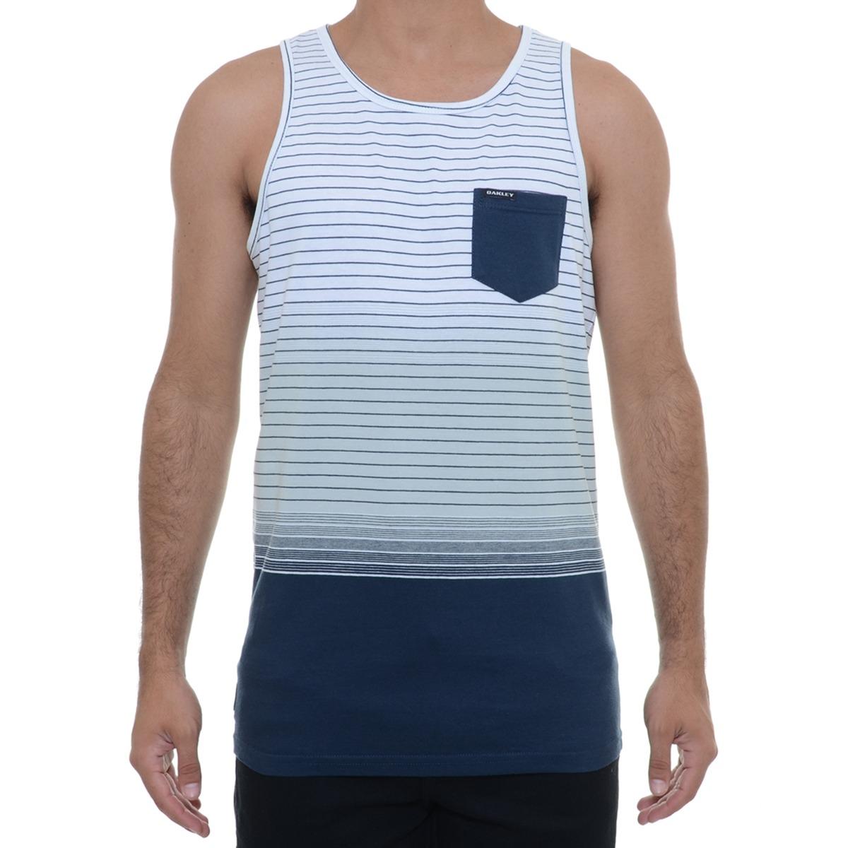 b9920692aec72 Camiseta Masculina Oakley Regata Fade Tank Branca - R  74,00 em ...