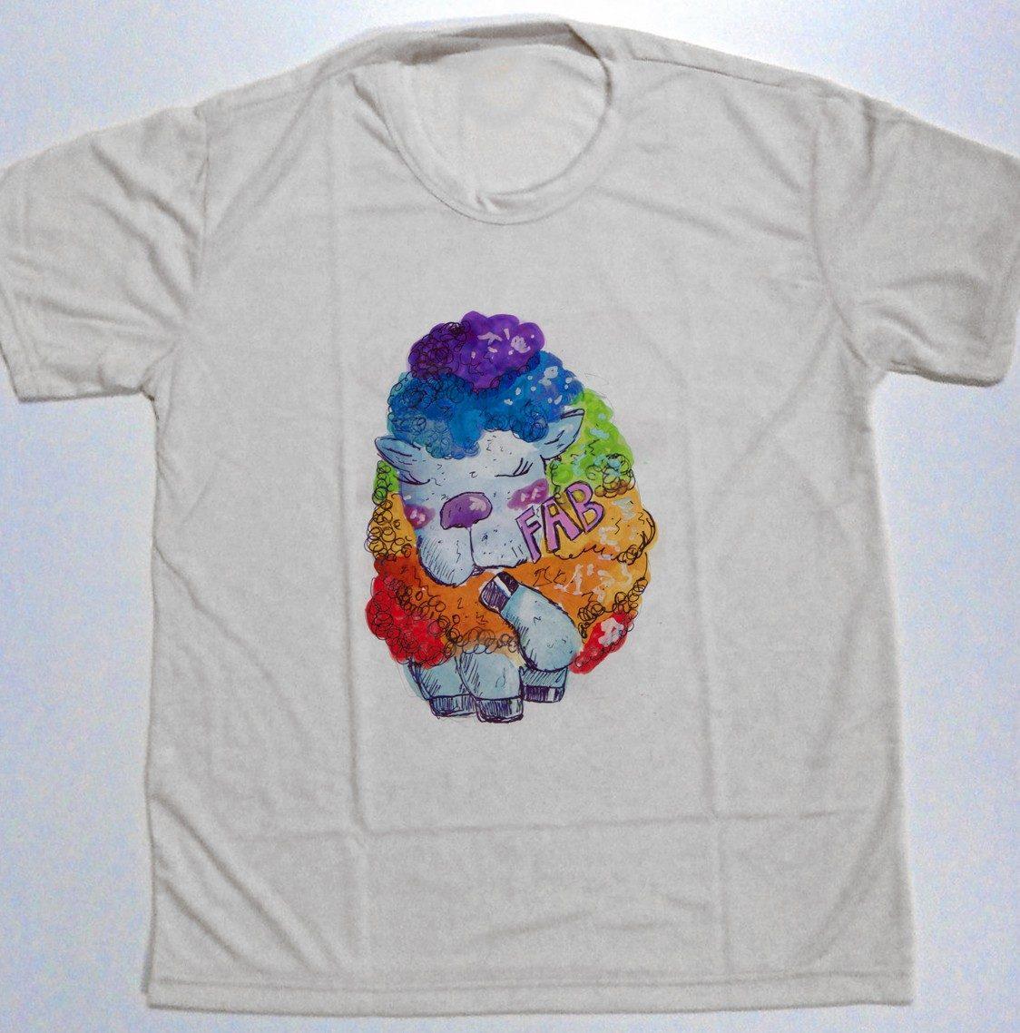 91b56de0f camiseta masculina ovelha arco-iris negra lgbt fab tumblr. Carregando zoom.