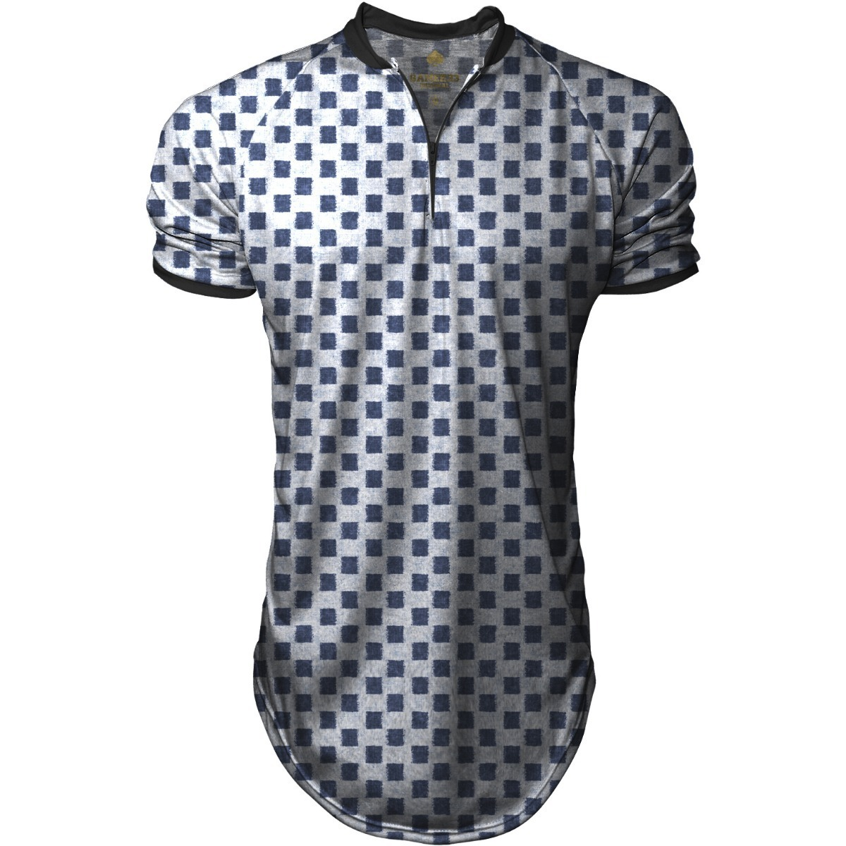 e365c320dc7ec camiseta masculina oversized longline gola polo sport xadrez. Carregando  zoom.