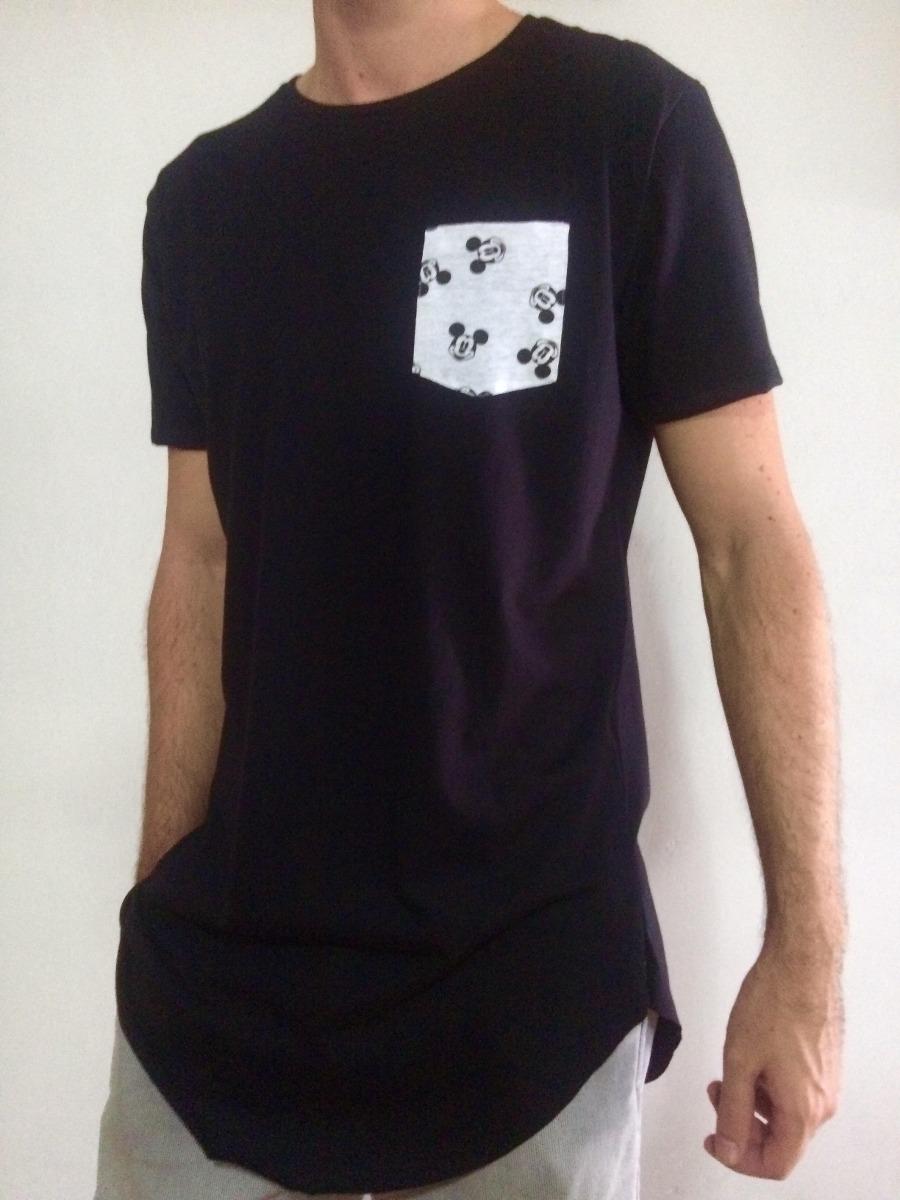 a8bde4d4b camiseta masculina oversized swag longline bolso mickey. Carregando zoom.