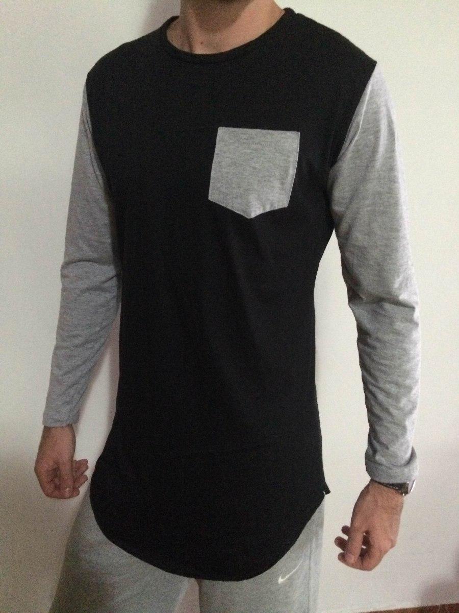 3679ede18 camiseta masculina oversized swag longline longa com bolso. Carregando zoom.