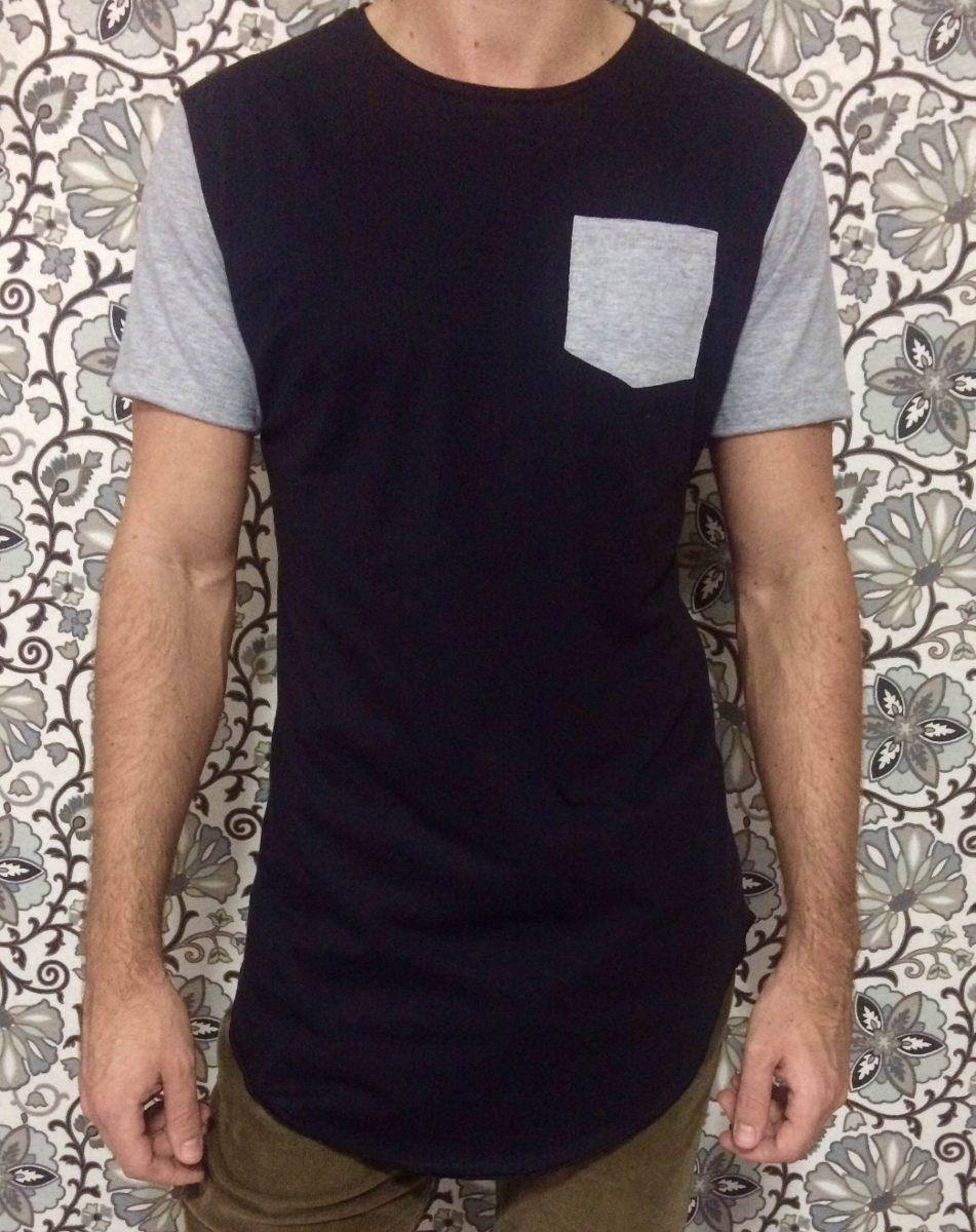 ac98cd279 camiseta masculina oversized swag longline redonda bolso. Carregando zoom.