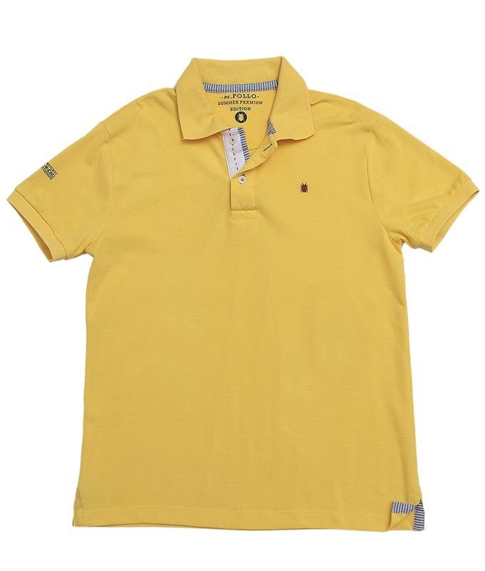 camiseta masculina polo amarela - mpollo. Carregando zoom. 1944af5accf1e