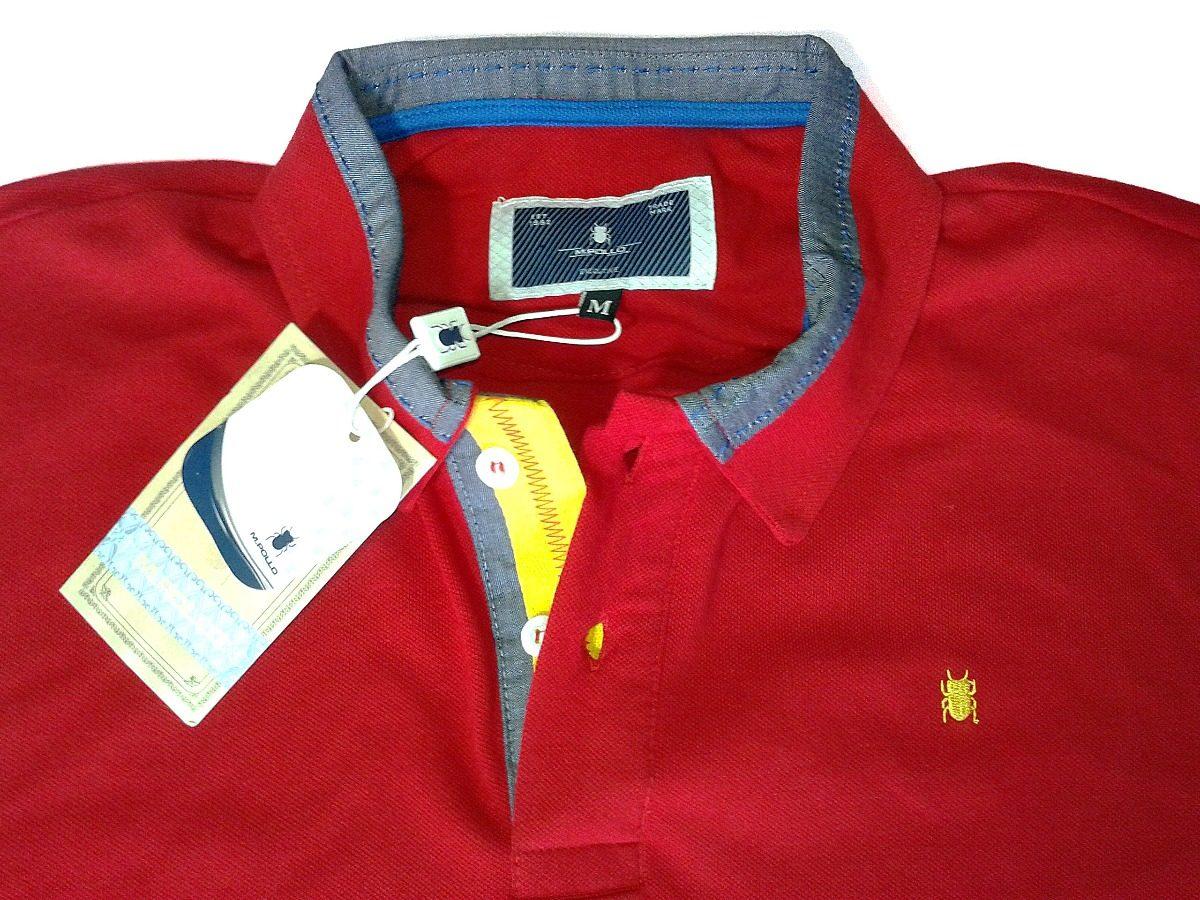 camiseta masculina polo vermelha - mpollo. Carregando zoom. 445fe3a577185