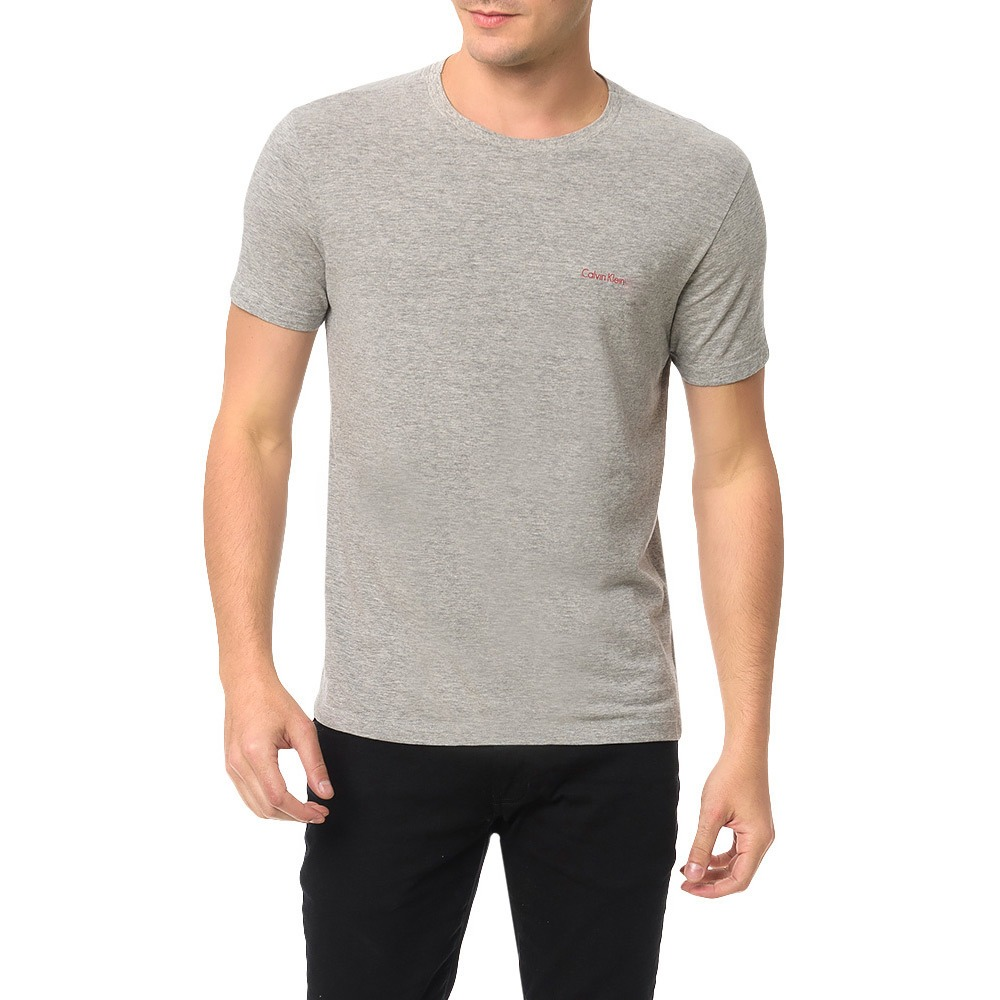1a1f6eac43d464 Camiseta Masculina Pro Red - Cinza - Calvin Klein