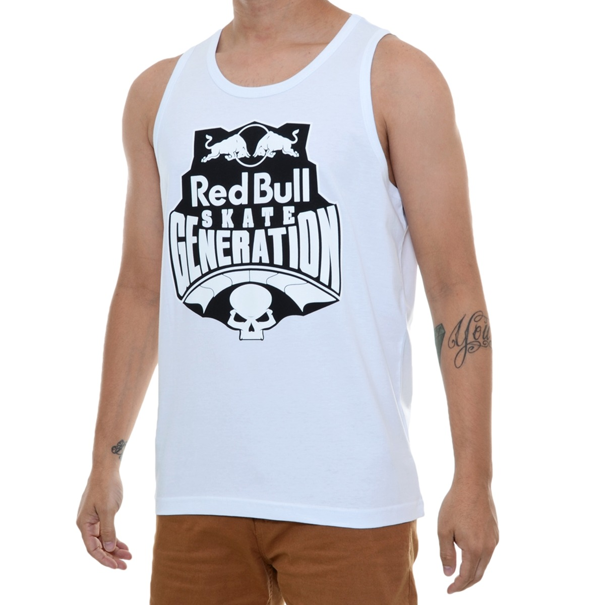 camiseta masculina red bull regata skate generation branca. Carregando zoom. a3647769e2b