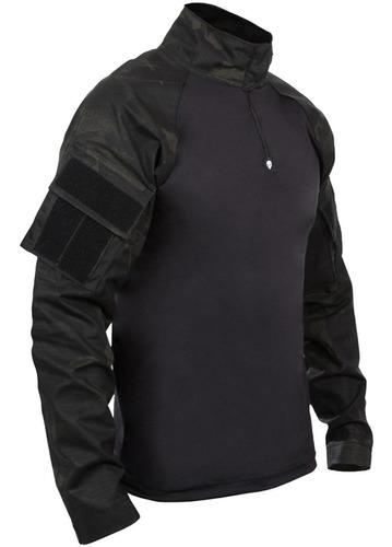 camiseta masculina tática manga longa bravo combat shirt