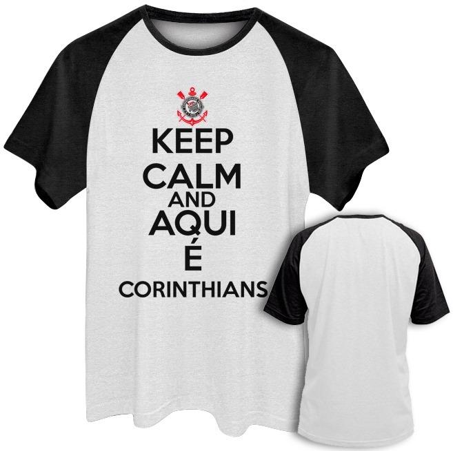 1cd7ecd233 Camiseta Masculina Time Keep Calm Timão Plus Size Até G6 - R  45