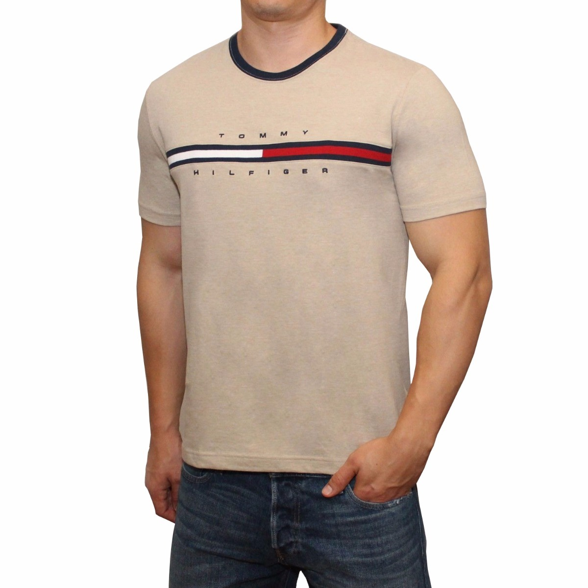 d1447fc19a camiseta masculina tommy hilfiger 100% original - tam p p13. Carregando  zoom.