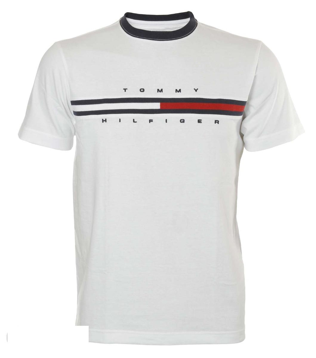 6cadc52db180e7 Camiseta Masculina Tommy Hilfiger Goya - R$ 144,33 em Mercado Livre