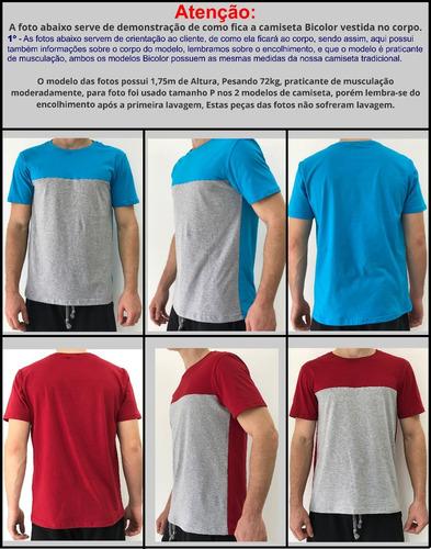camiseta masculina varias cores original camisa blusa slim