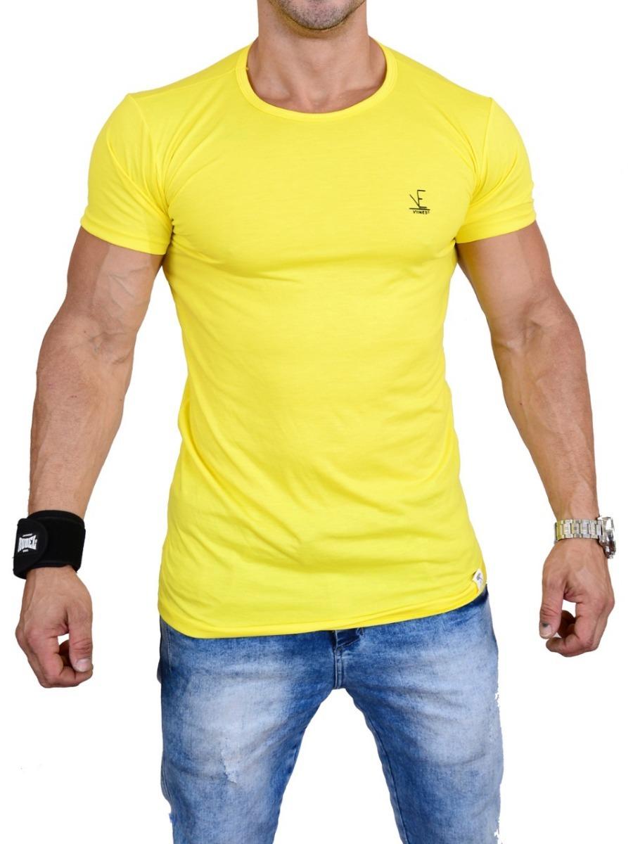 85437791a camiseta masculina viines long line amarelo e mais 10 cores. Carregando  zoom.