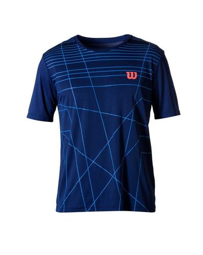 camiseta masculina wilson - camiseta amplifeel m azul - teni