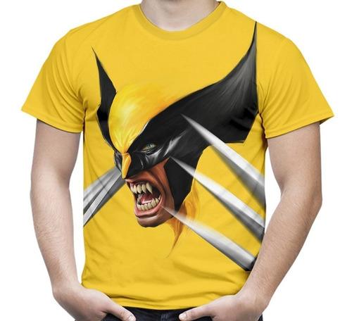 camiseta masculina wolverine face volverine logan