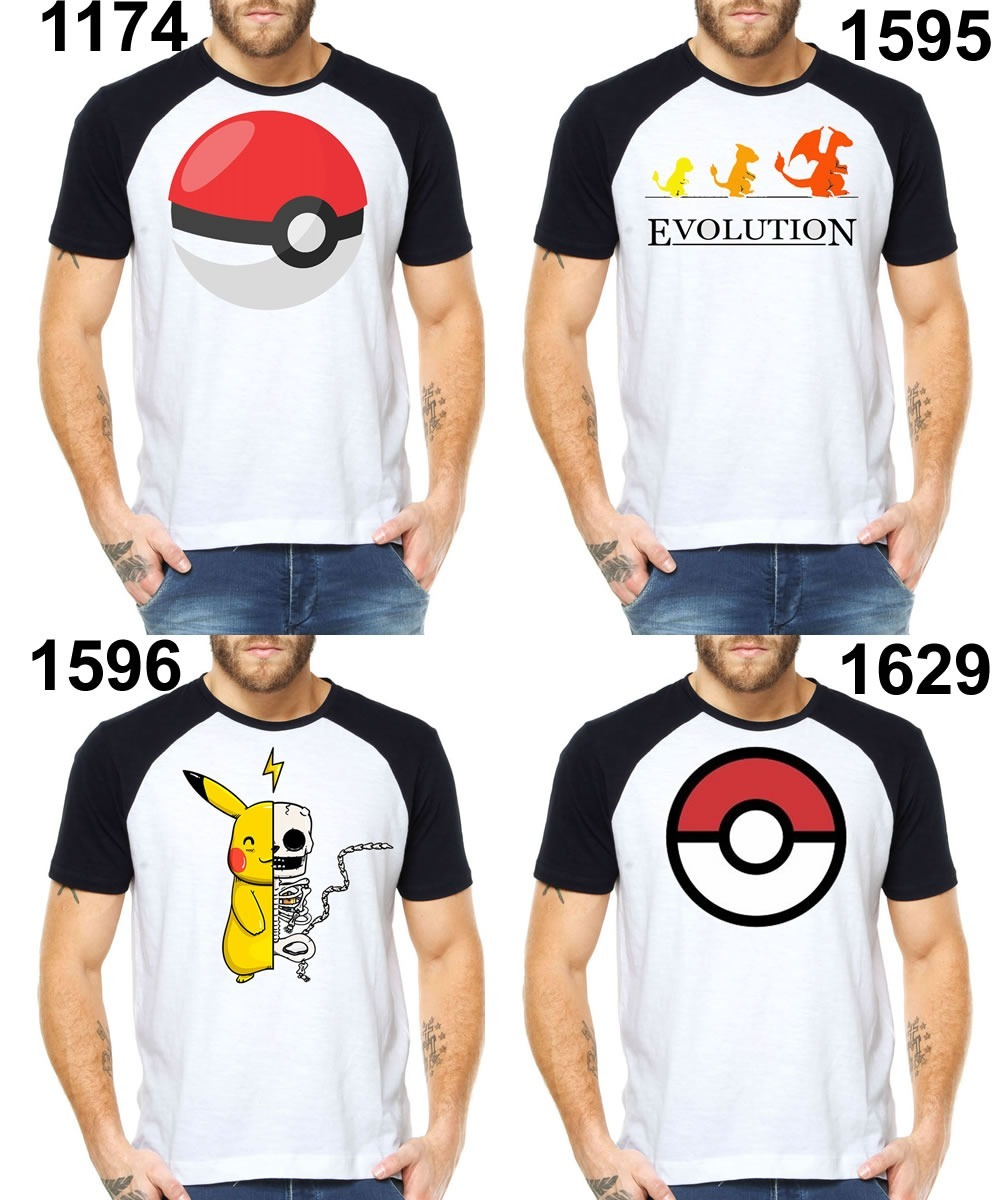 5049c2c029 camiseta masculinas pokemon go pokebola mangá animes raglan. Carregando  zoom.