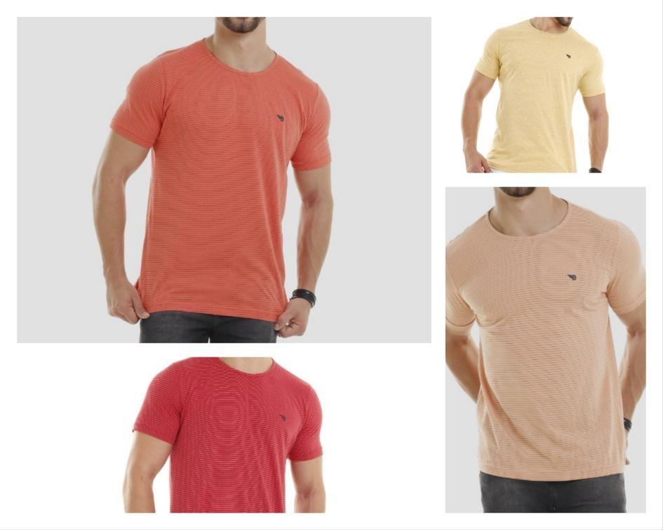 2815874686 Camiseta Masculino Básica Kit Com 3 Peças Em Até 12x - R  60