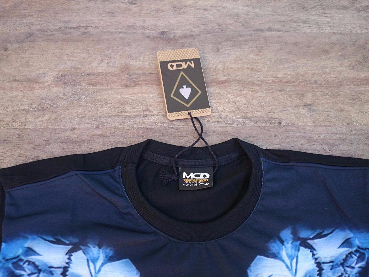 82a4372abe011 camiseta mcd blue skull style regular t shirt. Carregando zoom.