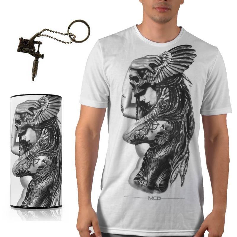 camiseta mcd especial body tatoo branca. Carregando zoom. 6ec6be3f4d7