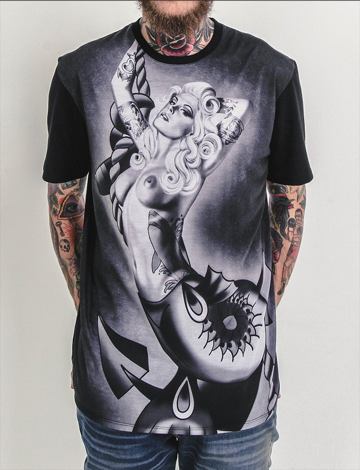 camiseta mcd especial body tattoo miss core. Carregando zoom. 46a2634ebd8