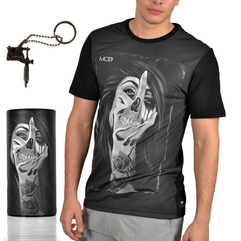 camiseta mcd especial tooth tatoo preta. Carregando zoom. 0e5d8ec6e97