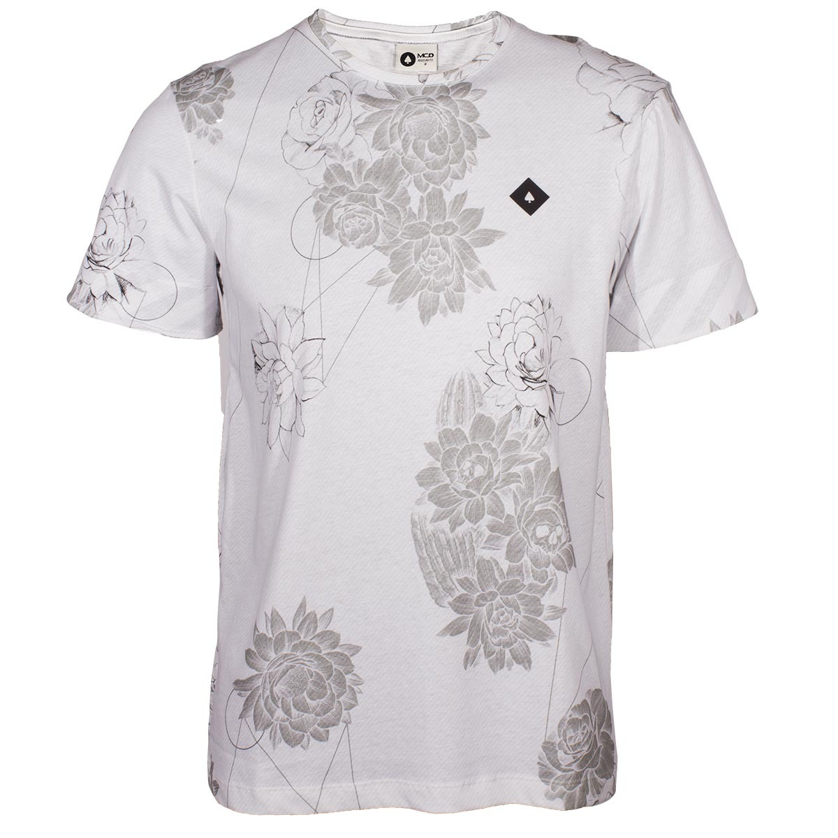 camiseta mcd geo flower - branco cinza. Carregando zoom. f5816a19a52