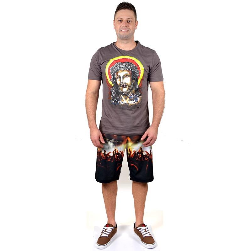 bd585150c7ead camiseta mcd jesus cinza. Carregando zoom.