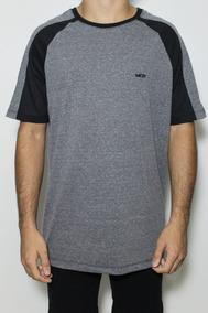 e317e41e44 Camiseta Raglan Grafite no Mercado Livre Brasil