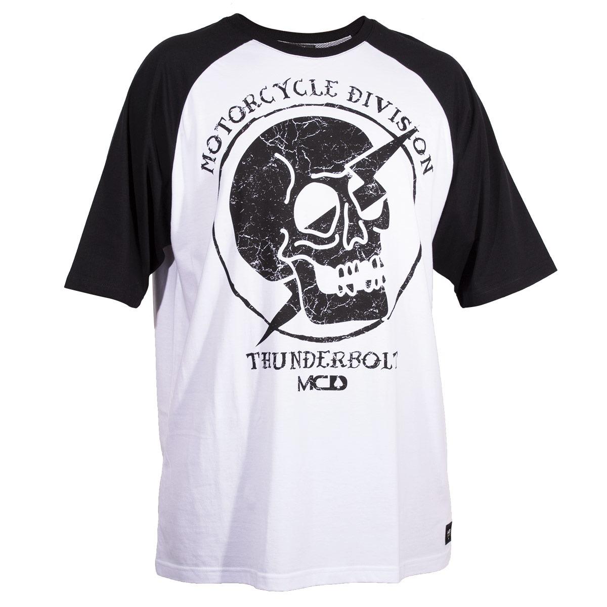 Camiseta Mcd Raglan Motorcycle - Branco preto-gg - R  129 10820dbdb63