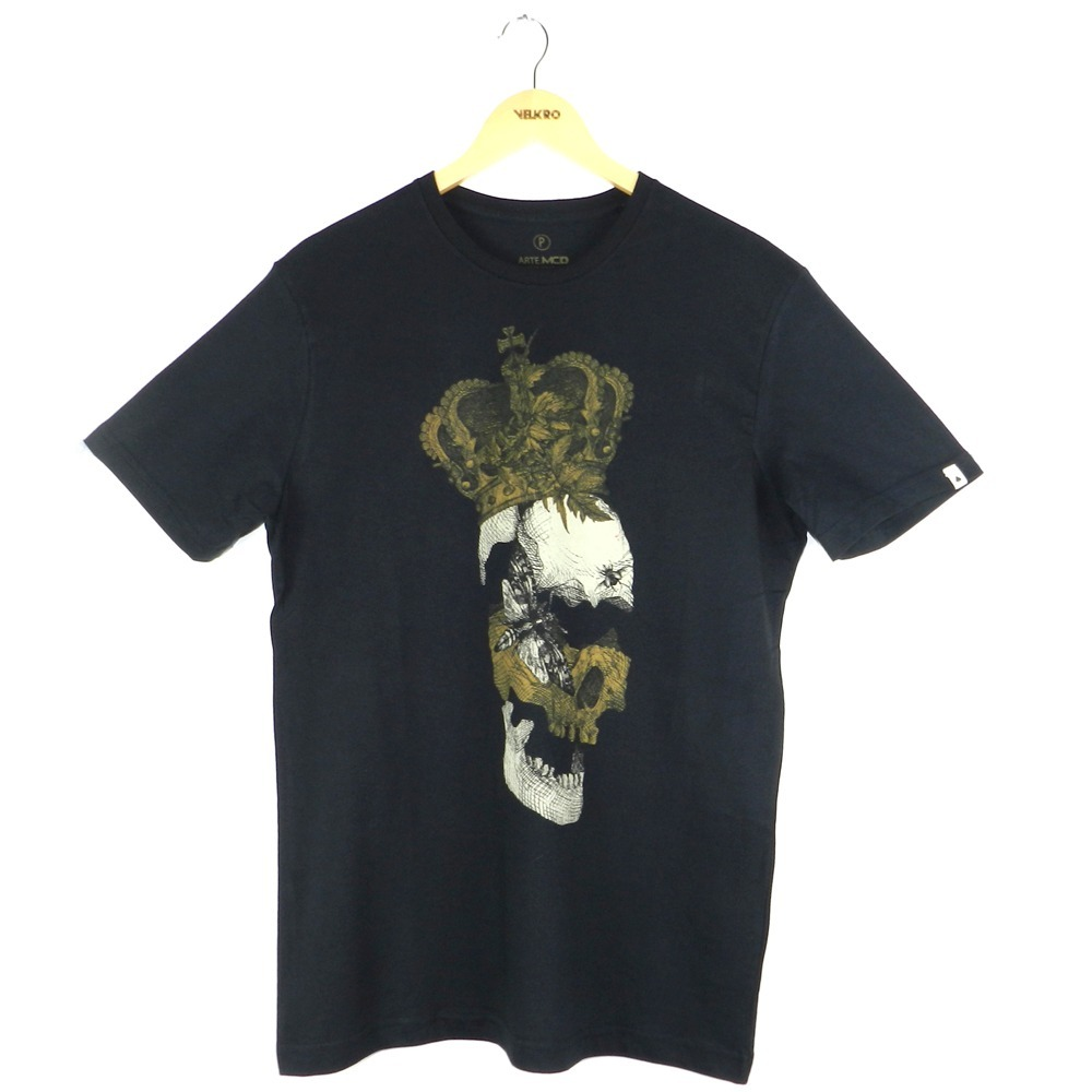 0b55e5ccb7cec camiseta mcd regular king preto. Carregando zoom.