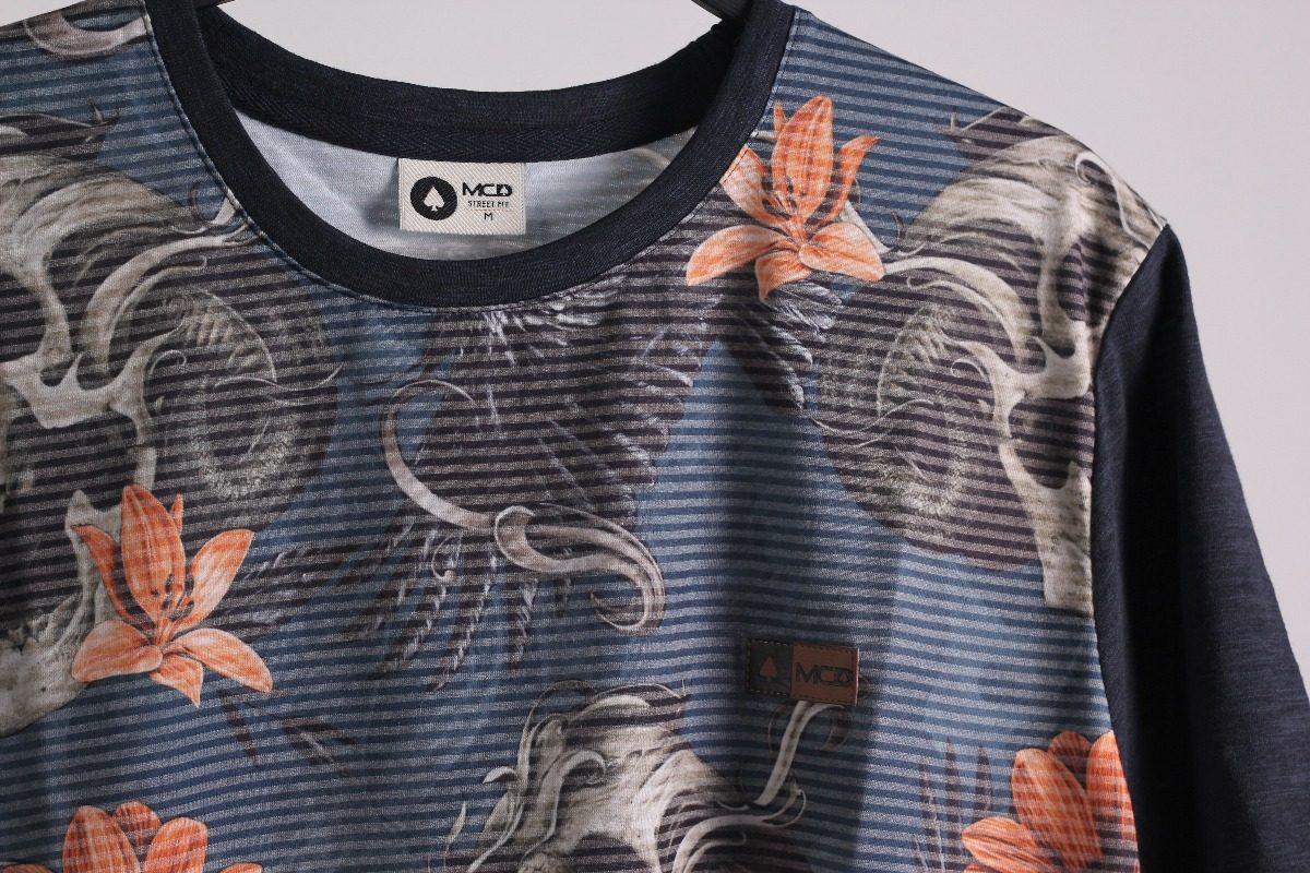 camiseta mcd scream skull especial ref. cor   azul br. Carregando zoom. d2f9d4229d8
