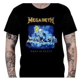 Camiseta Megadeth - Rust In Peace (tamanho G)