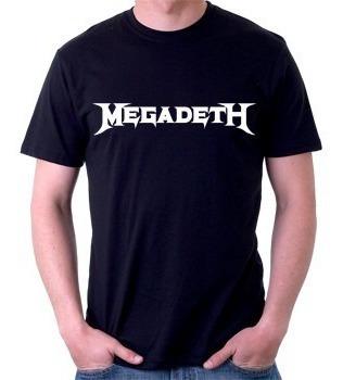 camiseta megadeth - rock - heavy metal - 100% algodão