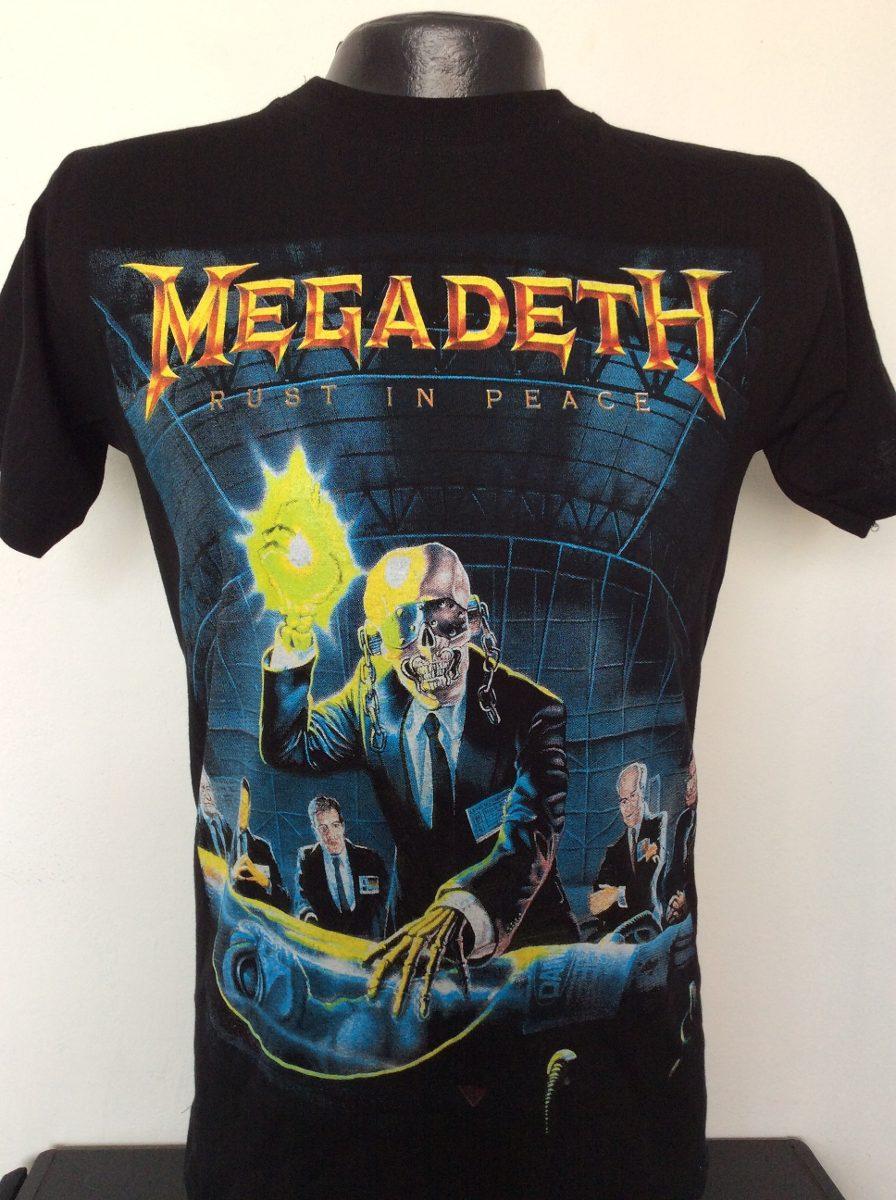 cfd7368295d86 Camiseta Megadeth Rust In Peace Rock Metal Anime Heroes -   24.990 ...