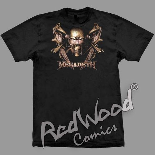 camiseta - megadeth - tam. g - stamp - rewood