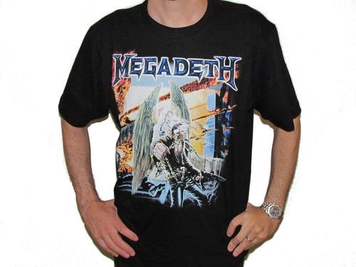 camiseta megadeth united abominations consulado do rock
